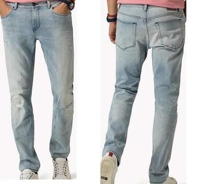 8ef51ef84f893 TOMMY HILFIGER jeansy BLEECKER slim spodnie- 31 32 - 6911451699 ...