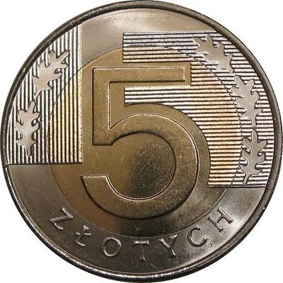 5 zł złotych 1994 mennicza z worka lub rolki