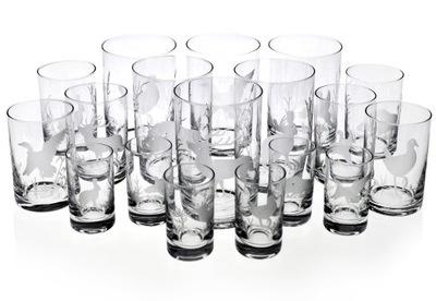 ZESTAW szkła szklanki MYŚLIWSKIE 18el. NA PREZENT