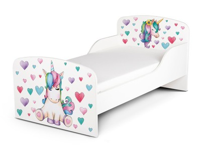 Detská posteľ 140x70 cm Jednorožec, BEZ MATRACA