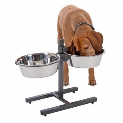 Миски для собаки на подставке регулируемом 2 x 2 ,8 L