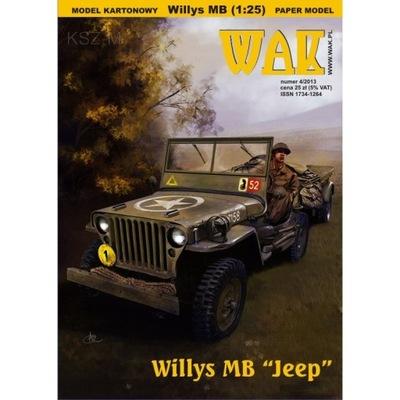 ОАК 4 /13 автомобиль внедорожник Willys MB Jeep 1 :25