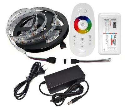 LED svetelné pásy AUTA RGB 5m 5050 60/M DOTYKOVÝ panel +a