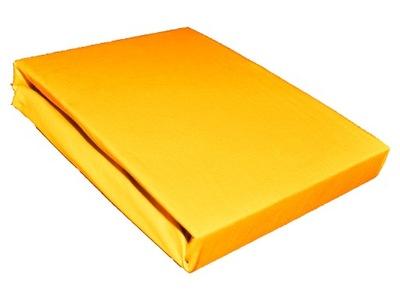 Plachta - Prześcieradło jersey 90x180 bawełniane żółte