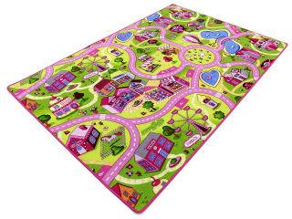 Koberec do detskej izby - Detský koberec farebné ulice 200x150 detí