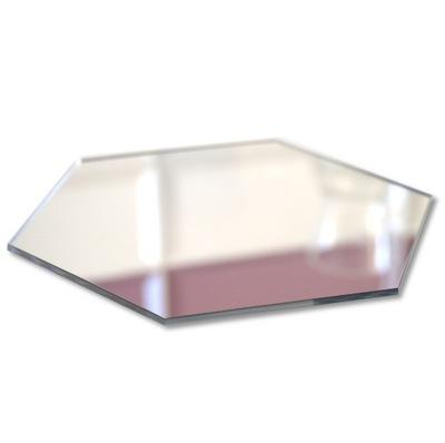 Moderné akrylové dekoračné zrkadlo HEXAGON 3 mm
