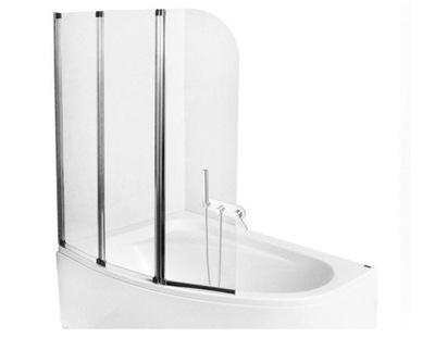 PMD Ширма стеклянный на ванну 3 -ВИНГЕР 140x120