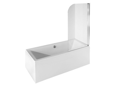 Sprchové dvere - Vaňová obrazovka BESCO 130x75 1 sklenená krídla
