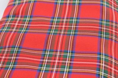 Tkanina kratka szkocka czerwona, 0,5m /160 cm,