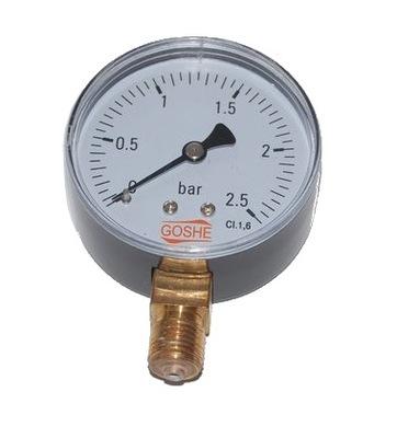 Manometer 2,5 bar GOSHE fi 63 mm spodný tlakomer