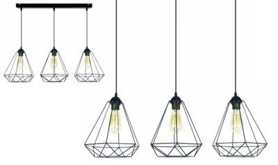 RATOLESŤ prívesok svetlo Loft RETRO EDISON lampa 3xE27