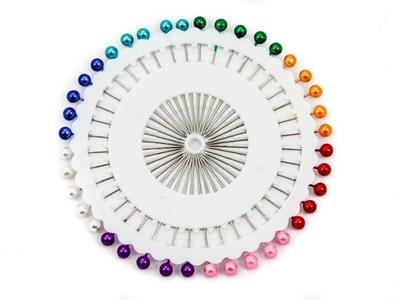 булавки розетка жемчужную головкой 36 мм цветные белое