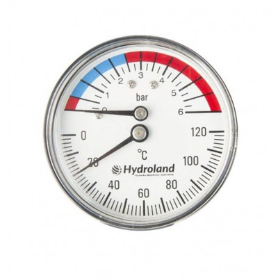 Thermomanometer 120C 0-6 Bar 63Mm Thermometer Manometer