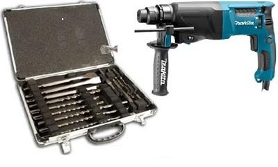 Makita HR2630 строительный перфоратор SDS + комплект 17 штук