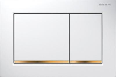 Splachovacie tlačidlo pre závesné WC - GEBERIT OMEGA H82 H98 HOLDER, biela GOLD