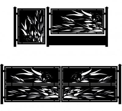 Современные ограждение пролета подвесной ворота Ворота