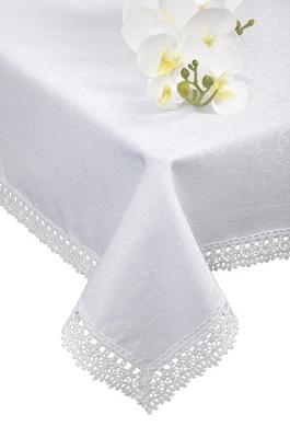 пятноотталкивающий скатерть гипюр ФЛОРЕНЦИИ 240x140 Белый