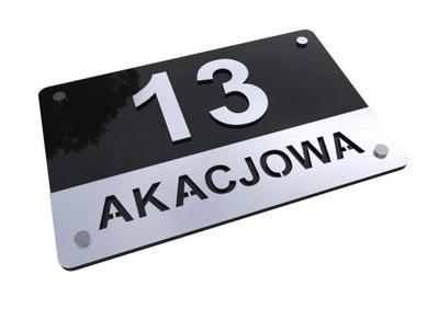 W1 3D Izby na dome Podpísať adresu Alu 40x30