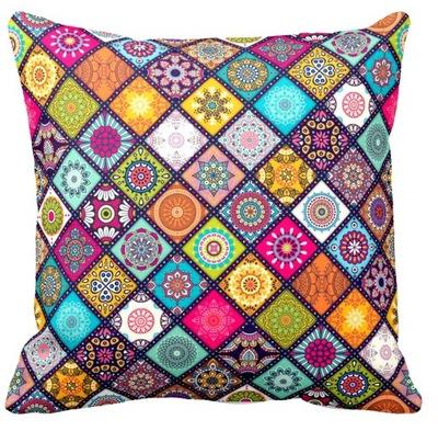 Разноцветная наволочка на подушку Mandala 40x40cm