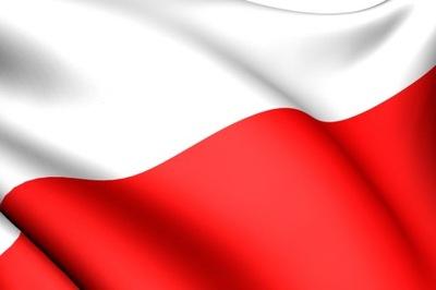 Flaga Flagi Polski Polski 112X70 cm.producent+ kij