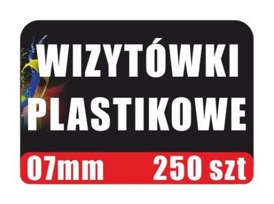 Wizytówki Plastikowe 07 mm 250 szt Karty PCV PVC