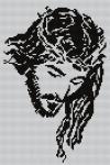 KANWA HAFT KRZYŻYKOWY 20x30 JEZUS W CIERNIU- 29 45