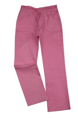 Cienkie spodnie dziewczęce 122-128