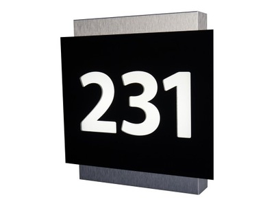 Podsvietený číslo domu Tlayer 35x35cm BL LED