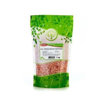 соль гималайская розовая średnioziarnista 1 кг