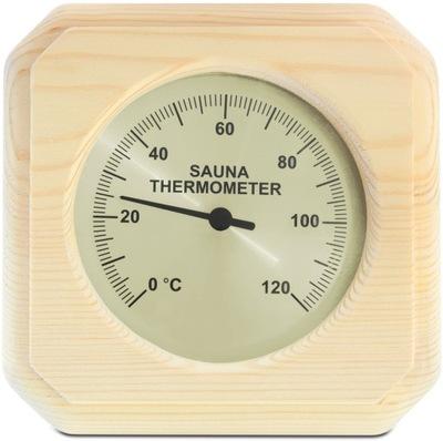 термометр квадратный для САУНУ НА ПРИБОРНОЙ Сосна САУНА