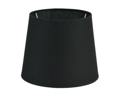 Svietidlo - tienidlo - Abażur czarny do lampy E27 19x24x19 tkanina