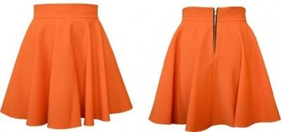Spódnica mini pomarańczowy Niska cena na Allegro.pl