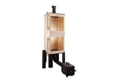 БОЛЬШАЯ коптильня для сада деревянная С ТРУБОЙ, 190 СМ
