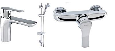 Vodovodné batérie súprava -  VALVEX DALI nastavenie sprchovej nádrže spray chr
