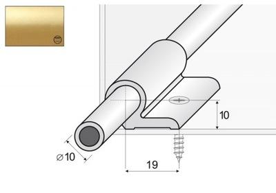 A06 Стержень chodnikowy 90 см + ручки золото