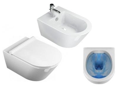 WC misa - SONET RIMLESS 50 cm TELECOM + BIDET + SLIM BOARD