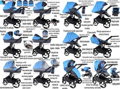 Wózki 3w1 WÓZEK DZIECIĘCY 4W1 + BAZA ISOFIX AVEIRO