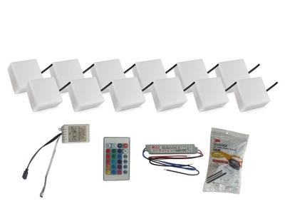 Nájazdové, nášľapné svietidlá - 12x Świecąca Kostka Brukowa LED 10X10 Holland RGB