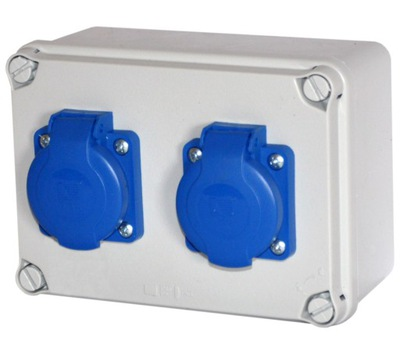 Rozvádzače box konštrukcia 2x 230V IP54