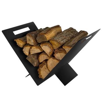 DEKORTA stojan na palivové drevo HOLGER black