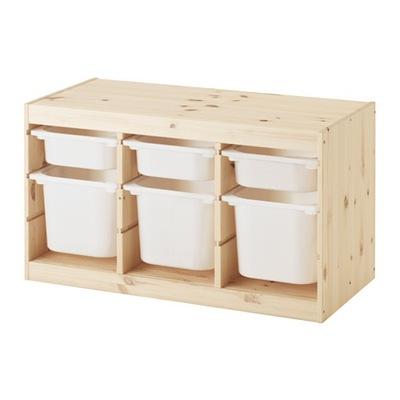 IKEA skrinka so 6 kontajnerov trofast borovice/biela