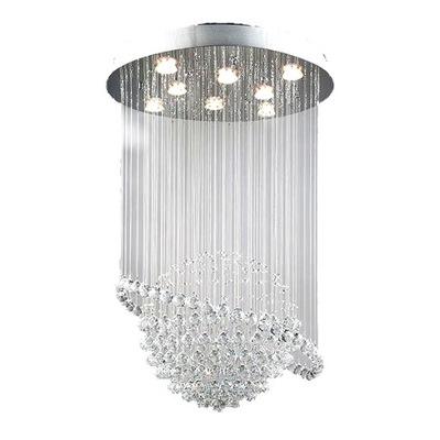 Svietidlá - Závesné svietidlá - Elegancka Plafoniera LED Plafon Kryształowy 100cm