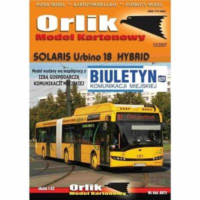 Orlik A011 - Autobus Solaris Urbino 18 Hybrid 1:43