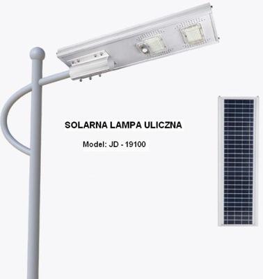 Pouličná lampa SOLÁRNE LAMPY, POULIČNÉ LED svetla LED 100W JD-19100 PILOT