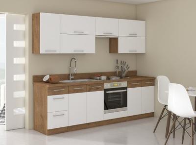 Кухня Мебель Кухонные VIGO Белый блеск 2 ,6м