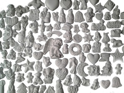 шарики Гипсовые елочные ангелы 125szt + подарки