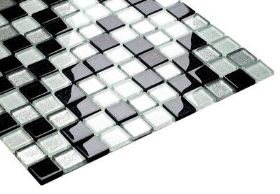Мозаика стеклянная BLACK микс высокий блеск ENGLASS