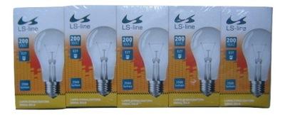 Традиционные лампы накаливания 200 ВАТ - 5 штук . - лампа накаливания 200 ВТ