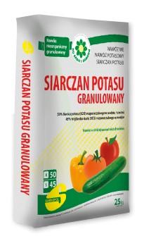 Siarczan Potasu nawóz granulowany posypowy 25kg