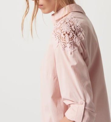 MOHITO XS/34  nowa  kolor pudrowy róż gipiura